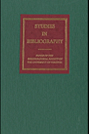 The Bibliographical Society of the University of Virginia